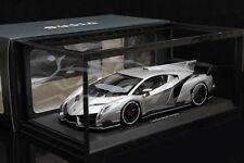 Diecast Car Model Kyosho Lamborghini Veneno 1:18 (Gray/White Line) + GIFT!!!!!
