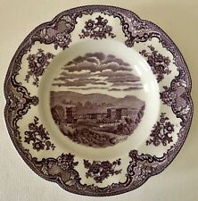 Vintage Johnson Bros Brothers Old Britain Castles Lavender Purple Rim Soup Bowl