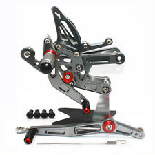 Rearset Rear Sets Foot Pegs  Pedals YAMAHA YZF-R6 2006-2016 06-10 & L11-L16 GY