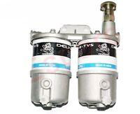 Double Twin Diesel Fuel Filter Assey Massey Ferguson Ford John Deere JCB
