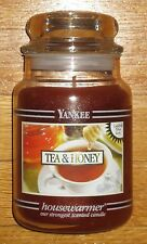 Yankee Candle - 22 oz - TEA & HONEY - Black Band - RARE AND HARD TO FIND!!