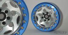 "SSD RC 2.2"" Champion Beadlock Wheels (Silver / Blue) (2) SSD00238"