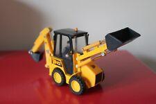 """Britains 6.5"""" JCB 1CX SKID STEER Yellow Diecast Toy EXCAVATOR Tractor 1/32 ERTL"""