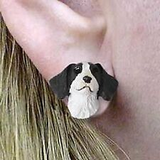 Conversation Concepts Brittany Liver and White Spaniel Earrings Post
