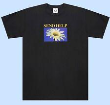NWT Medium UNIF Send Help Daisy Flower Short Sleeve Hippy Hippie Top SOLD OUT