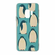 For Samsung Galaxy S9 Silicone Case Penguin Collage Pattern - S343