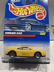 Hot Wheels Ferrari 348 [Yellow] VINTAGE - New/Sealed/Rare HTF UNOPENED NO#993 !!