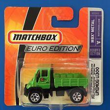 VERY RARE 2008 Matchbox EURO SERIES 2007 MERCEDES-BENZ UNIMOG on short card!