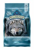 Blue Buffalo Blue Wilderness Chicken Dry Dog Food Grain Free 4.5 LBS.
