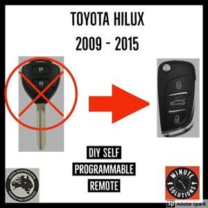 FITS TOYOTA HILUX G REMOTE CAR FLIP KEY FOB 2009 2010 2011 2012 2013 2014 2015