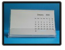 "2021 Blank Stamping Calendars Diy Decorate Craft 4""x7"" with Cases Lot of 2"