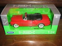 BY WELLY DIE CAST - 1953 BUICK SKYLARK (HOOD DOWN) in RED - 1:24 Scale