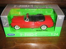 BY WELLY DIE CAST - THE 1953 BUICK SKYLARK (HOOD DOWN) in RED - 1:24 Scale