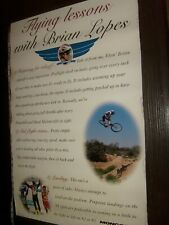 Rare Brian Lopes Bicycle Flying Lessons Promo Mongoose Mountain Bike Poster