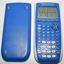 Blue Texas Instruments TI-84 Plus Silver Edition Graphing Calculator TESTED
