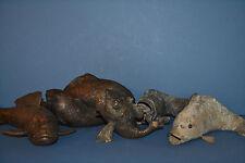 5 Rare Antique 19th Century Chinese or Japanese Bronze Koi Fish ,c 1820