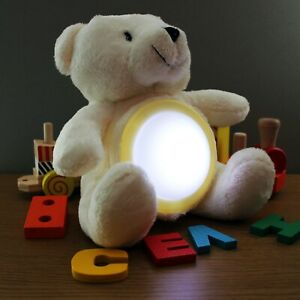 Glow Teddy - light up, push light, night light, plush, teddy bear, soft toy, kid