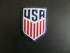 """USA """"SOCCER"""" NHL BLUE-RED-WHITE Embroidered 2-1/4 x 3 Iron  On Patch"""