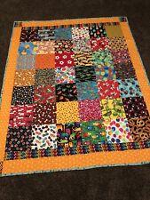 "Handmade ""I-SPY w/my Little EYE  quilt""~Robert Kauffman 68x84"" ~machine quilted"
