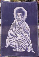 BUDDHA TENTURE INDIENNE VRAI BATIK FAIT À LA MAIN  NEPAL TIBET INDE B9