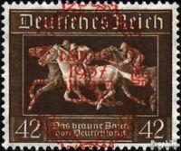 Deutsches Reich 649 (kompl.Ausg.) gestempelt 1937 Braunes Band
