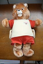 Vintage Worlds Of Wonder Teddy Ruxpin Talking Bear 1985 w/ The Airship Book/Tape