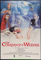THE COMPANY OF WOLVES MOVIE POSTER U.K. Original 27x40 Folded 1984 HORROR