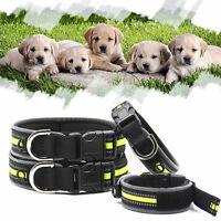 Pet Cat Puppy Nylon Collar Neck Buckle Adjustable Light Reflective Dog Collar.