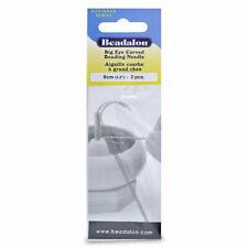 Beadalon Curved Big Eye Beading Needles Flexible - Packet of 2