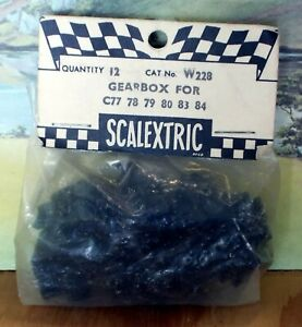 SCALEXTRIC W228 GEARBOX (1 PACK OF 12) - NEW OLD STOCK