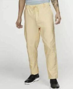 Nike Golf Flex Novelty Pants Sz 34 Yellow AV4123 294 NWT $85