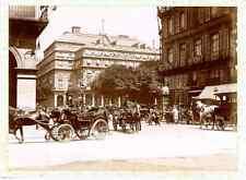 France, Paris, Les calèches  Vintage citrate print.  Tirage citrate  8x11