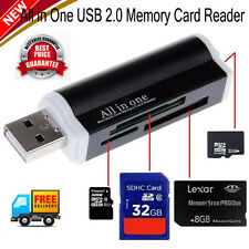 All in 1 Back to School USB Memory Card Reader Adapter for Micro SD SDHC TF M2