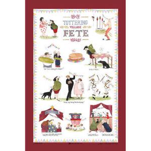 """Annie Tempest """"Village Fete"""" Linen Union Tea Towel by McCaw Allen"""