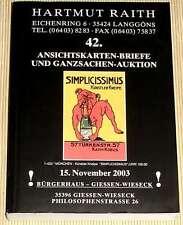 42. Ansichtskarten-Briefe u. Ganzsachen-Auktion 2003 + Rücklos- u. Ergebnisliste