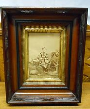 "Cabinet Photo In 11"" by 9"" Walnut Deepwell Frame 4 Year Old Willis Marshall 1869"
