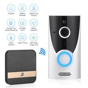 1080P Wireless Video Smart Doorbell WiFi Intercom Door Ring Bell Security Camera
