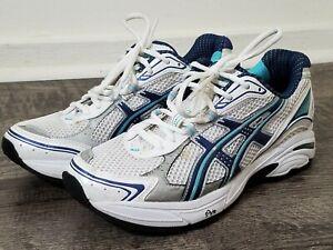 Asics GT-2130 Duomax Running Shoes Womens 8.5 Silver Blue White TN855(D) Sneaker