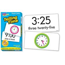 TREND Telling Time Skill Building Flash Cards  - Telling Time Skill Building