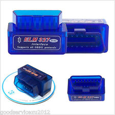 Blue Mini ELM327 V2.1 ODB2 ODB-II Bluetooth Auto Car Diagnostic Scan Scanner Kit