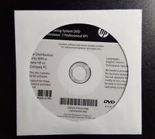 *NEW* HP Windows 7 Pro SP1 64 Bit OS Restore Recovery DVD Disc w/opt. HDD