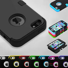 Hybrid Shockproof Hard&Soft Rugged Cover For Apple iPhone Case iPhone 5 5s