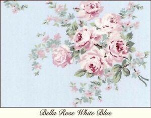 Rachel Ashwell Shabby Chic Bella Rose Blue Pink Poplin Fabric Floral yard