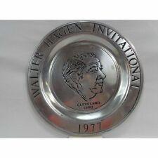 frankhan pewter plates Walter Hagen Golf invitational 1977 award