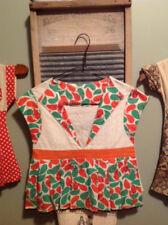 Cute vintage feedsack handmade laundry clothespin bag holder dress