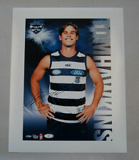 TOM HAWKINS GEELONG CATS SIGNED AFL HEROES PLAYER SERIES PHOTO PRINT