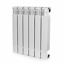 Hydronic (Hot Water) 6 Section Aluminum Bi-Metal Heating Radiator w/ Install Kit
