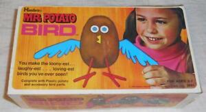 Vintage Hasbro Mr. Potato Bird Figure with Box dated 1970