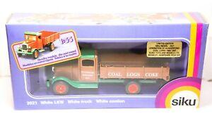 Siku 2521 White LKW White Truck Original Box - Near Mint Model 1:55