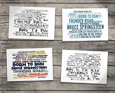 Gift Set BRUCE SPRINGSTEEN Oversized Postcards & Art Folder Lyrics Poster Prints